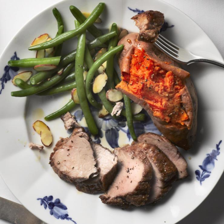 Vegetables with Lamb Tenderloin