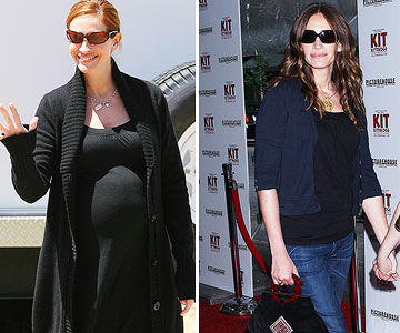 Julia Roberts weight loss after pregnancy